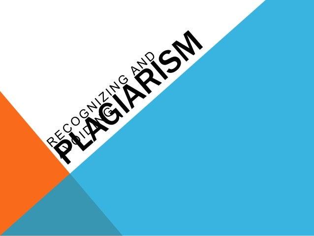 HOW DO YOU DEFINE PLAGIARISM?                ?