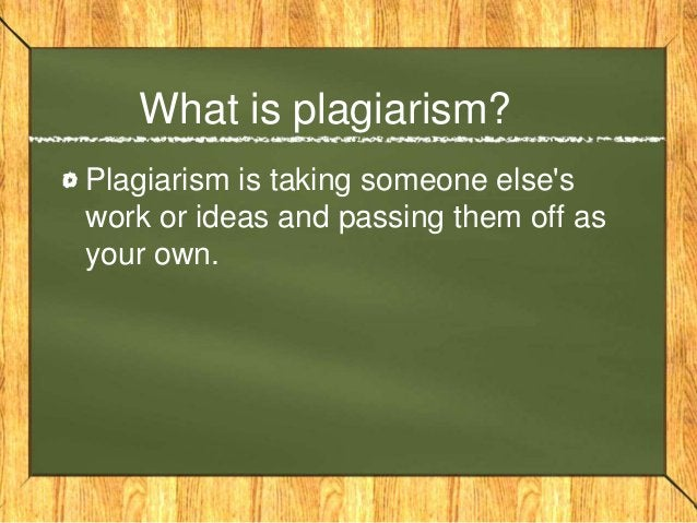 Is plagiarism a form of cheating? Yes