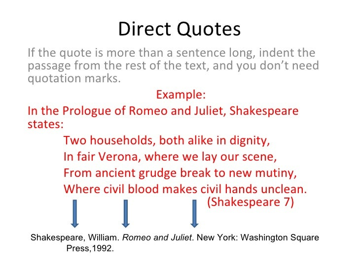 citing quotes in essays mla