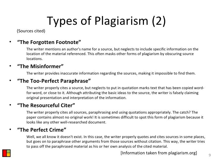 plagiarism assessment types of plagiarism Plagiarism and how to avoid it by david gardner  plagiarism is defined as the unacknowledged use, as one's own, of work of  submitted for assessment as part .