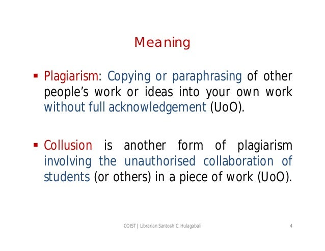 understanding plagiarism There are few intellectual offenses more serious than plagiarism in academic and professional contexts this resource offers advice on how to avoid plagiarism in your work.