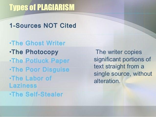 ghost writer plagiarism
