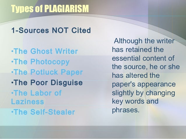 Ghost writer plagiarism
