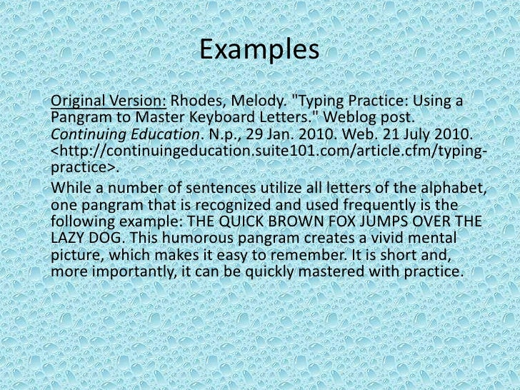 Everything you ever wanted to know about pangrams