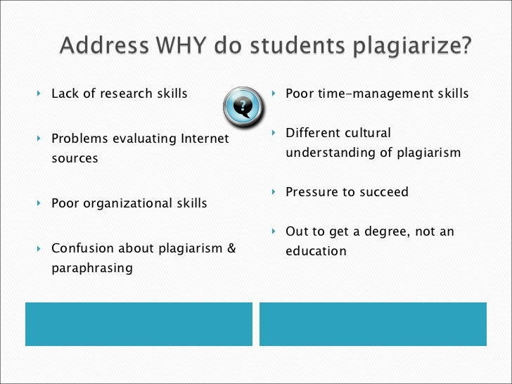 plagiarism academic dishonesty and students Umuc defines acts of academic dishonesty (see section iv) ensures procedures  for due process for students accused or suspected of acts of.