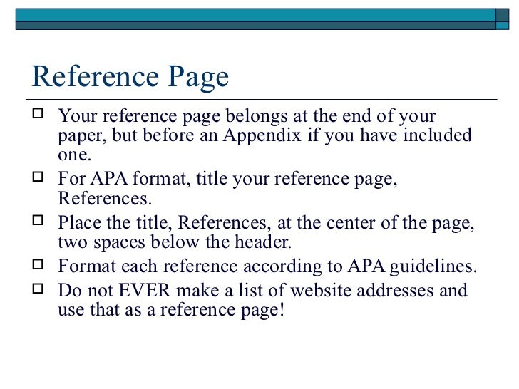 page references end essay titled In apa style a references page is a separate page at the end of essay basics: format a references page a references page in apa style your references.