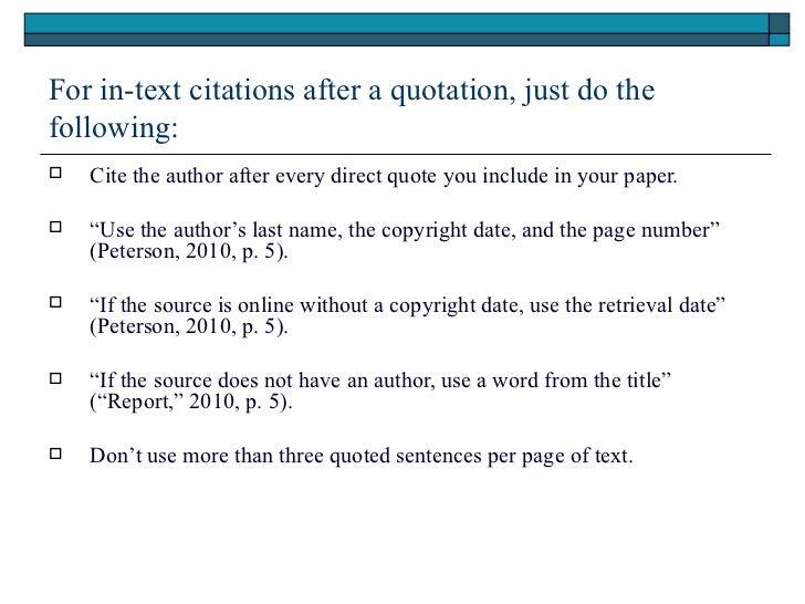 Plagiarism and APA format
