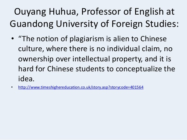 """plagiarism and students cultural differences Cultural differences among international students who assume that copying is acceptable preventing plagiarism in the classroom instructors are advised by the dean of students office (doas) to """" take all reasonable steps to prevent academic misconduct."""