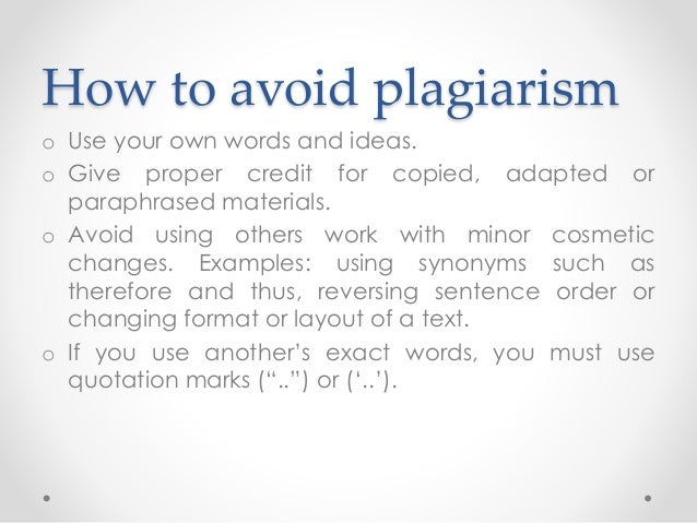 Ways to prevent plagiarism