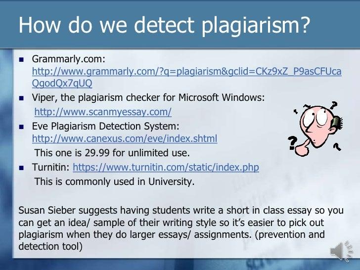 plagiarism 6 essay