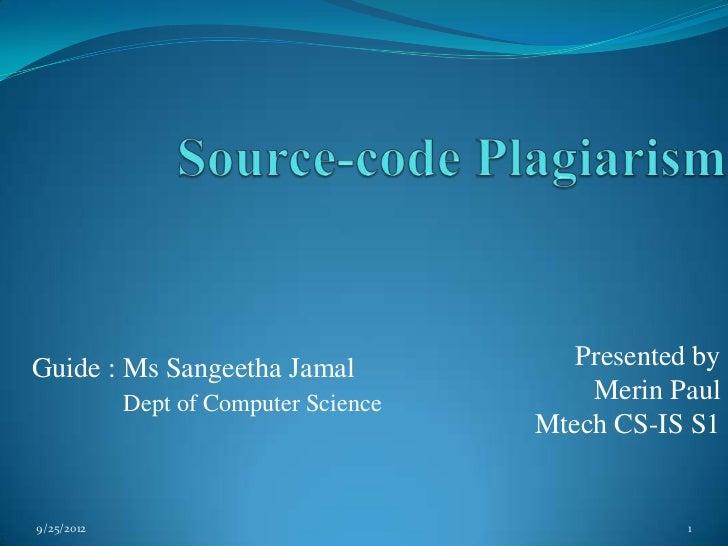 Guide : Ms Sangeetha Jamal                Presented by            Dept of Computer Science       Merin Paul               ...