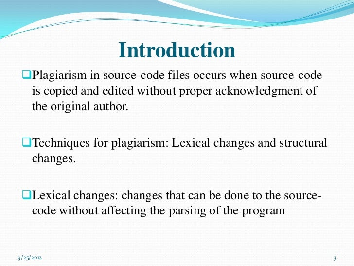 an introduction to plagiarism Introduction: plagiarism has stained our education system for long the reason behind highlighting this problem is that people, especially in our society are unaware of the consequences of this practice, and it is deemed normal without any sense of.