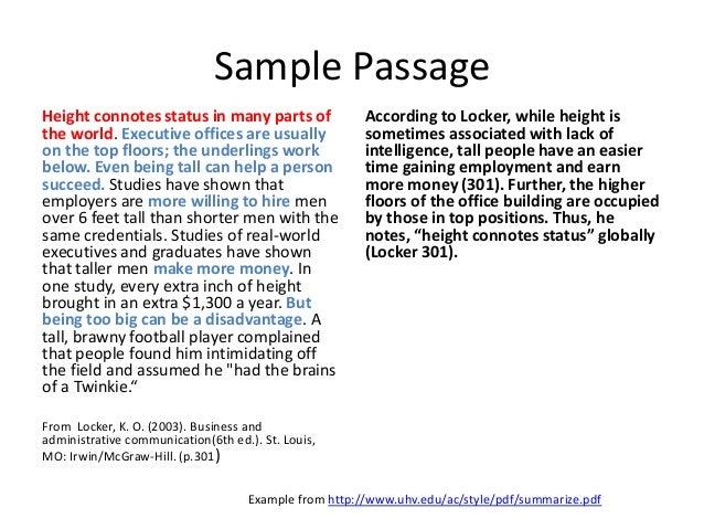 summary of argument sample