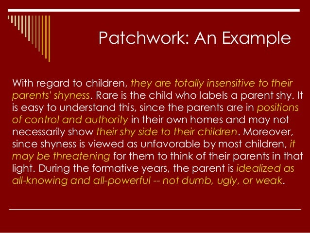 plagiarism powerpoint 10 patchwork an example