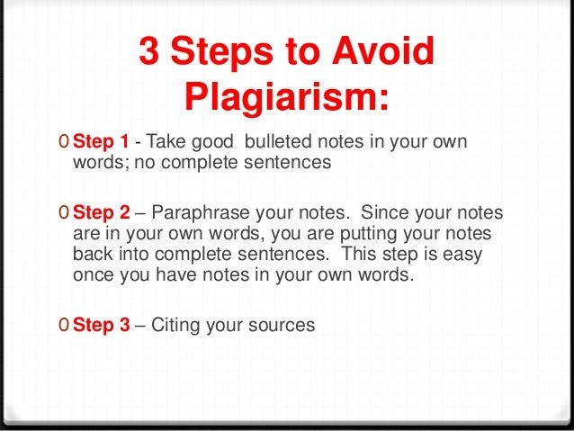 3 steps to avoid plagiarism