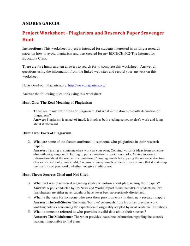 avoiding plagiarism worksheet geersc. Black Bedroom Furniture Sets. Home Design Ideas