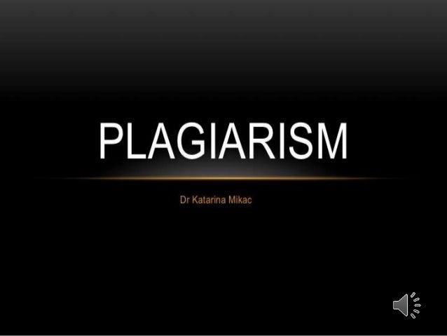 Dr Katarina Mikac PLAGIARISM