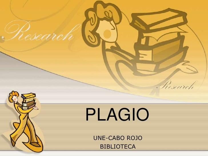 PLAGIO<br />UNE-CABO ROJO<br />BIBLIOTECA<br />