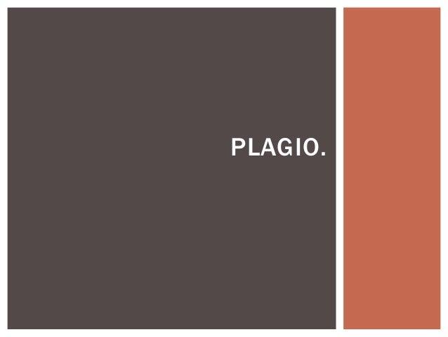 PLAGIO.
