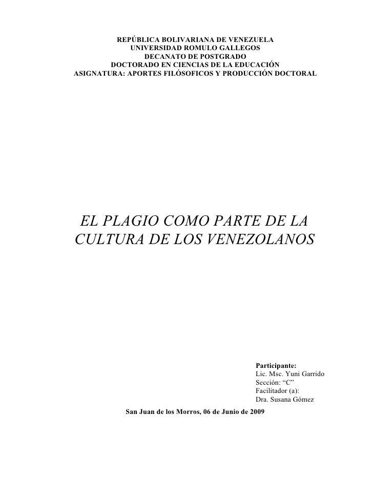PLAGIO EN VENEZUELA