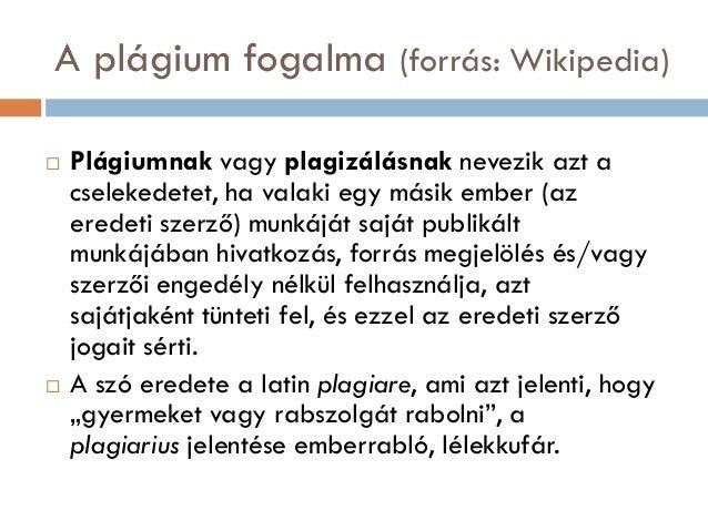 Plágium és eLearning Slide 3