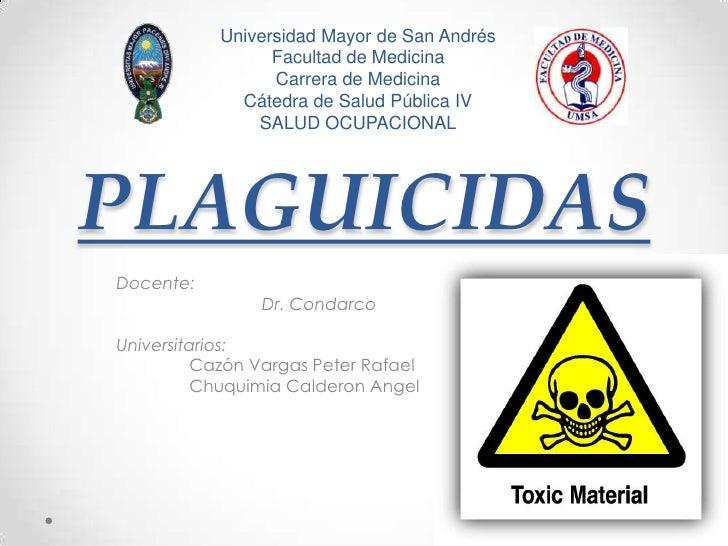 Universidad Mayor de San Andrés                 Facultad de Medicina                 Carrera de Medicina             Cáted...