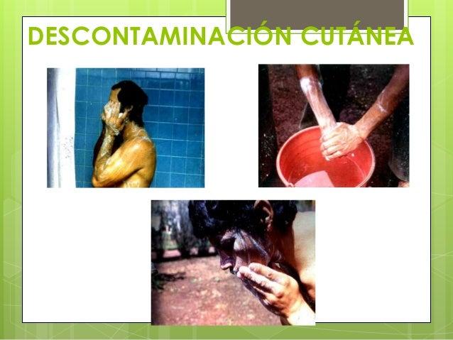 DESCONTAMINACIÓN CUTÁNEA