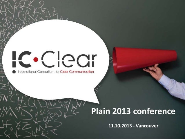 Plain 2013 conference 11.10.2013 - Vancouver