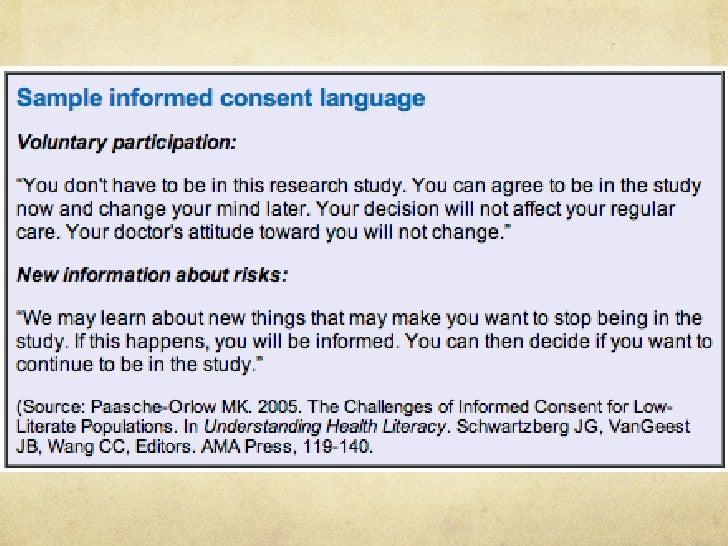 plain language statement guidelines