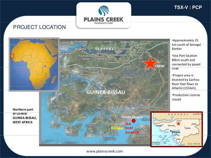 TSX-V : PCPPROJECT LOCATION                                                                •Approximately25             ...