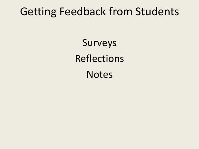 Starting the Conversation about Feedback