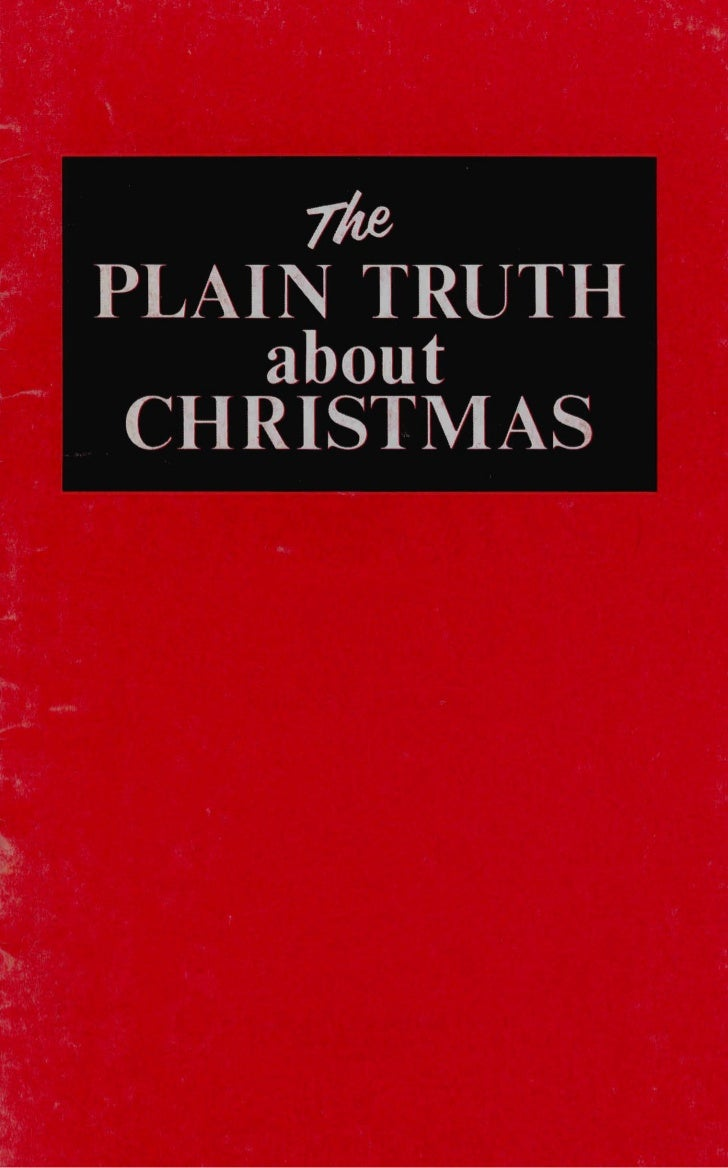 Plain truth about christmas (prelim 1970)
