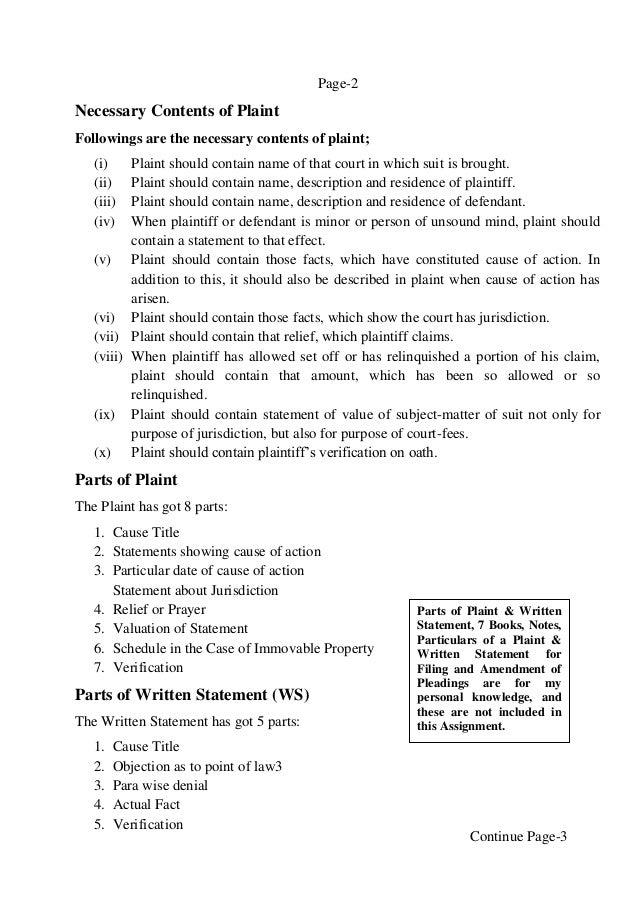 how to start a written statement