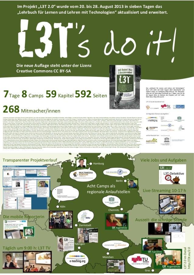 """Im Projekt """"L3T 2.0"""" wurde vom 20. bis 28. August 2013 in sieben Tagen das """"Lehrbuch für Lernen und Lehren mit Technologie..."""