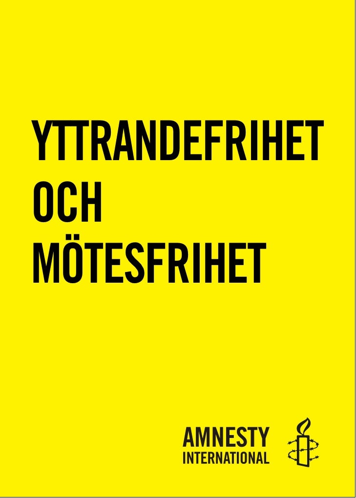 YTTRANDEFRIHETOCHMÖTESFRIHET