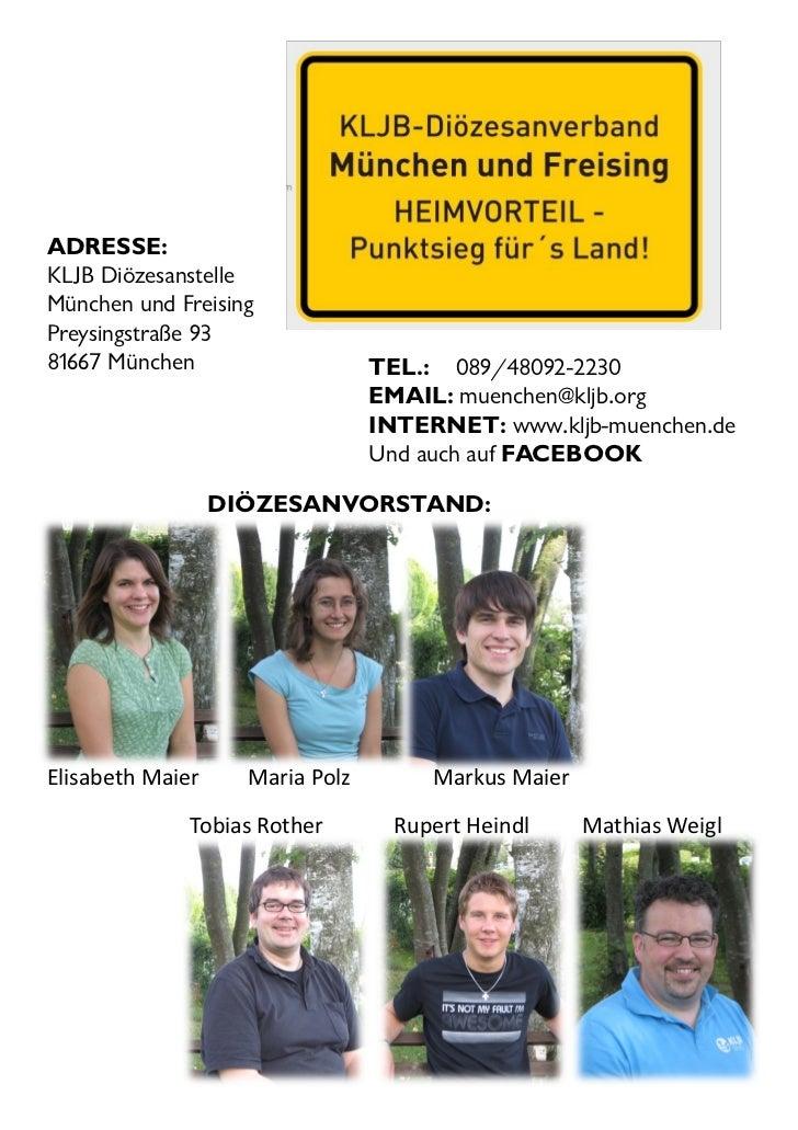 ADRESSE:KLJB DiözesanstelleMünchen und FreisingPreysingstraße 9381667 München                    TEL.: 089/48092-2230     ...