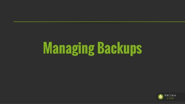 PLAM 2015 - Evolving Backups Strategy, Devploying pyxbackup Slide 2