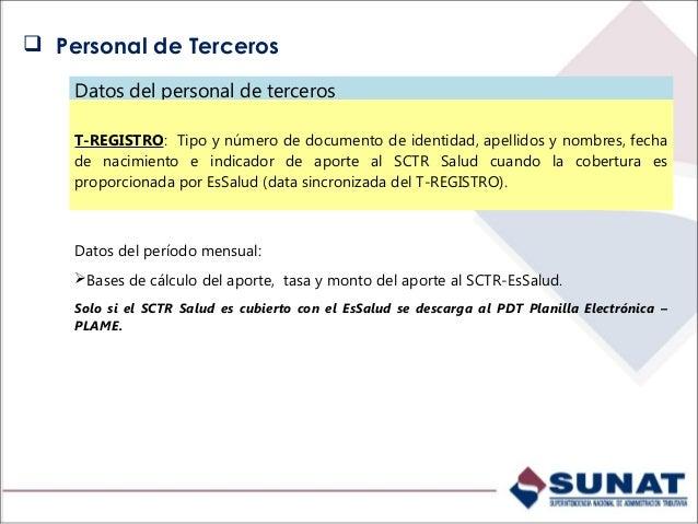 Datos del prestador con rentas de 4ta. Categoría Datos mensuales del prestador: Datos del prestador: Tipo y número de doc...