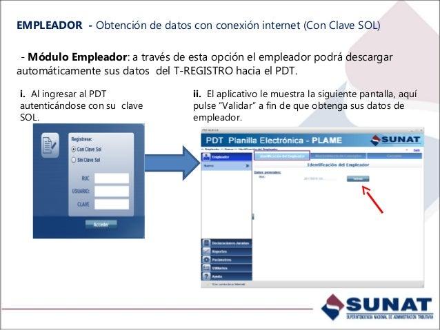 EMPLEADOR – Obtención de datos, sin conexión a internet. - Importación de Archivo Personalizado del T-REGISTRO: El PDT con...