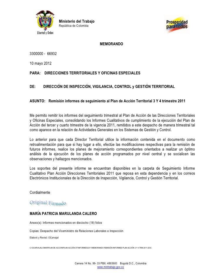 Ministerio del Trabajo                              República de Colombia                                                 ...
