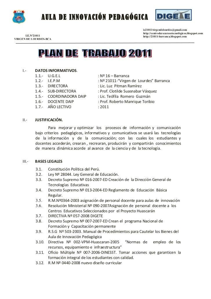 AULA DE INNOVACIÓN PEDAGÓGICA                                                                       ie21011virgendelourdes...