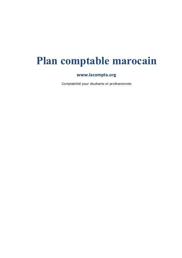 Plan comptable marocain www.lacompta.org Comptabilité pour étudiants et professionnels