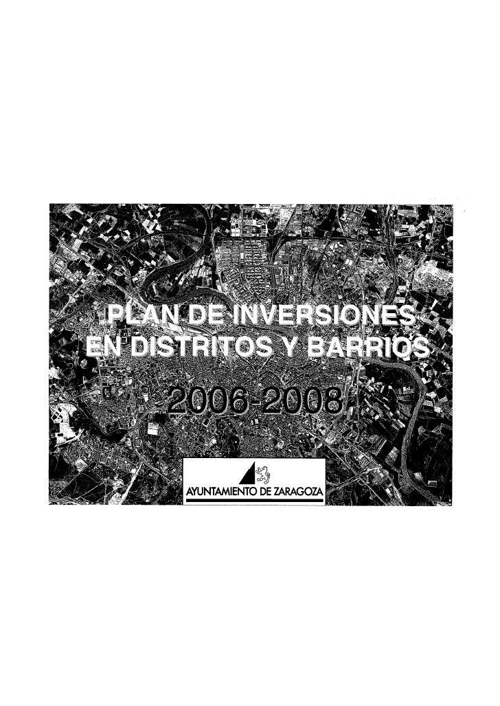 PLAN DE BARRIOS DE ZARAGOZA