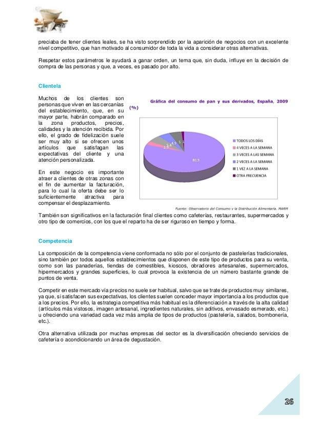 Plan De Negocio De Un Obrador De Panaderia Pasteleria Ejemplo De Pro