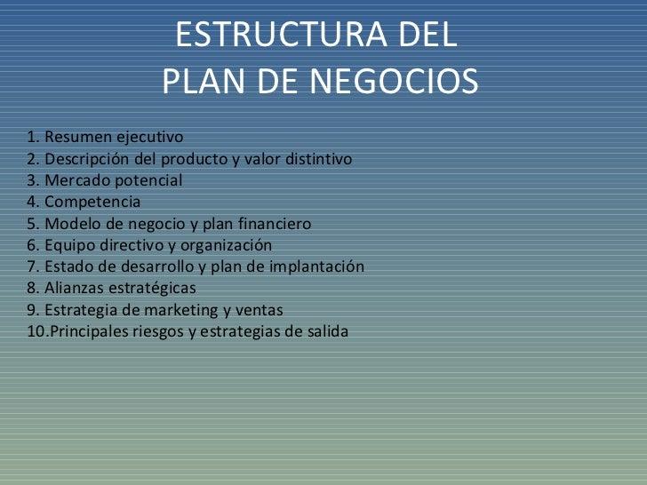 Plan De Negocio Presentacion