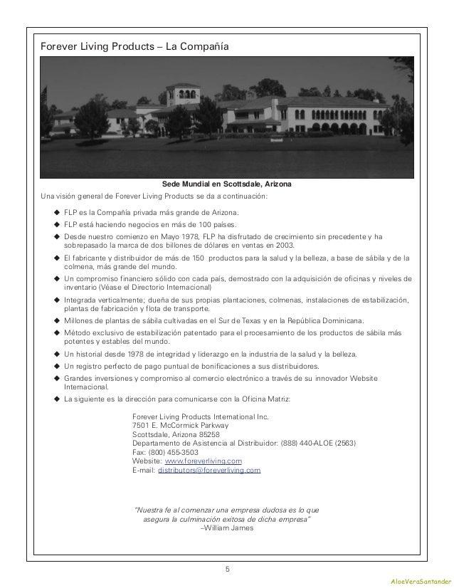 Forever Living Products – La Compañía                                    Sede Mundial en Scottsdale, ArizonaUna visión gen...