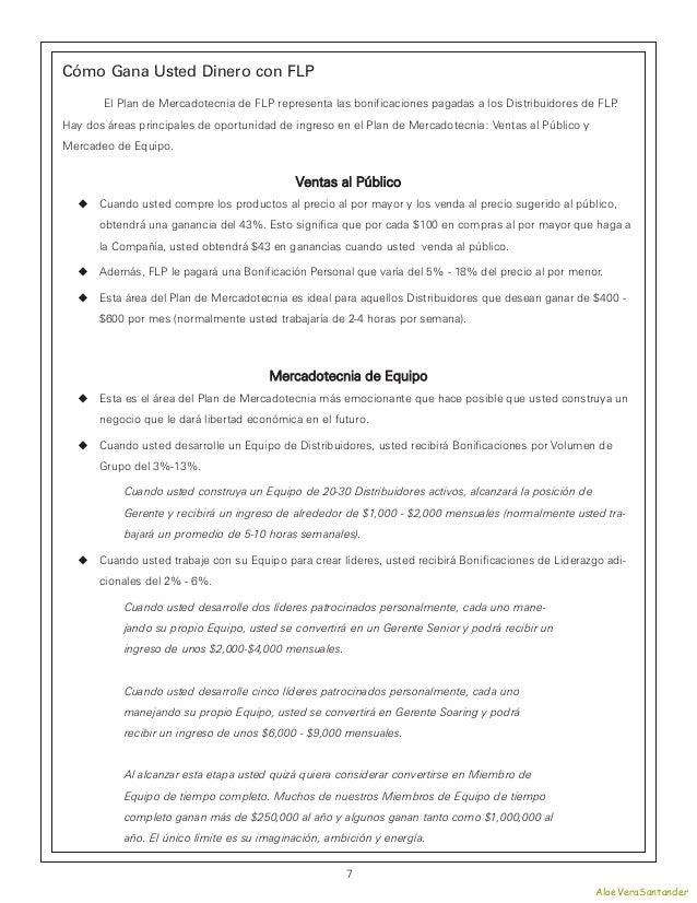 Cómo Gana Usted Dinero con FLP       El Plan de Mercadotecnia de FLP representa las bonificaciones pagadas a los Distribui...