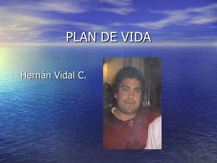 PLAN DE VIDA Hernán Vidal C.
