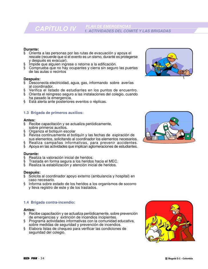 Plan escolar de emergencias for Actividades para jardin infantil