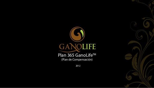 Plan 365 GanoLifeTM (Plan de Compensación)           2012